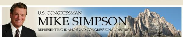 U.S. Congressman Mike Simpson - 2nd District of Idaho