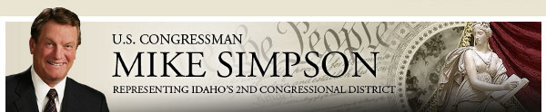U.S. Congressman Mike Simpson - 2nd District of Idaho