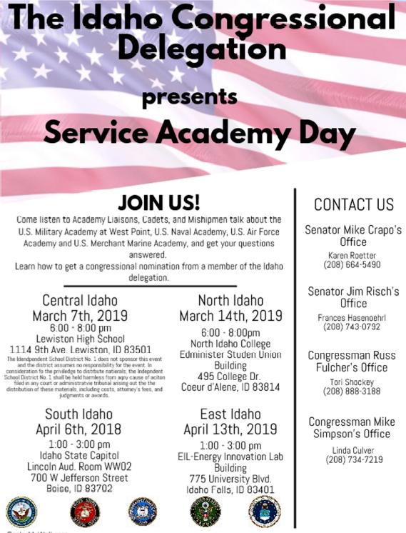Service Academy Nominations U S Congressman Mike Simpson